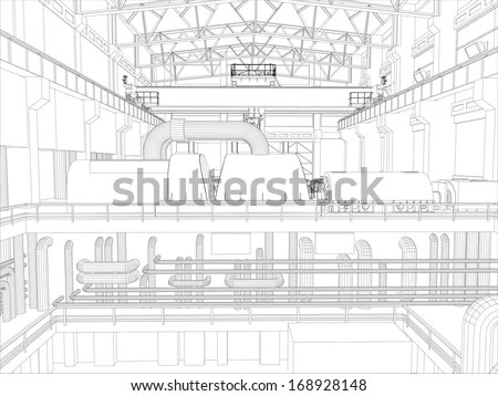 Factory Blueprint Stock Images, Royalty-Free Images