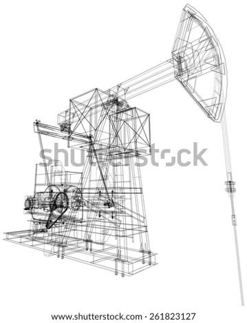 Oil Field Pump Jack Model Nodding Donkey Oil Pumps Model