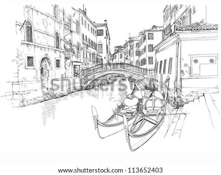Ponte Del Mondo Novo Campo Smaria Stock Illustration