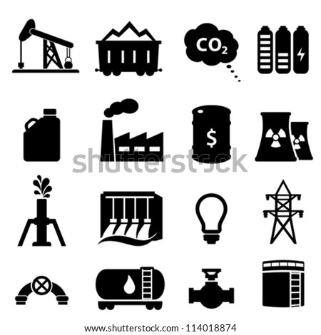 Oil And Gas Icons Stock Images, Royalty-Free Images