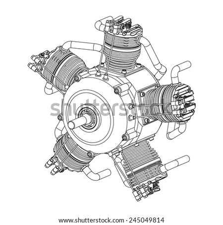 Radial Engine Stock Images, Royalty-Free Images & Vectors