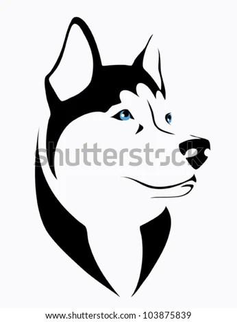 Husky Dog Vector Illustration Stock Vector 103875839