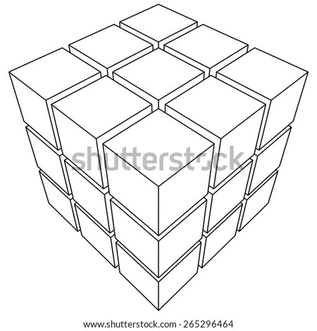 Outline Cube Stock Images, Royalty-Free Images & Vectors