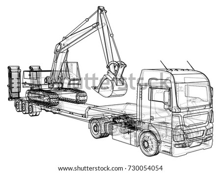 Flat Bed Truck Stock Images, Royalty-Free Images & Vectors