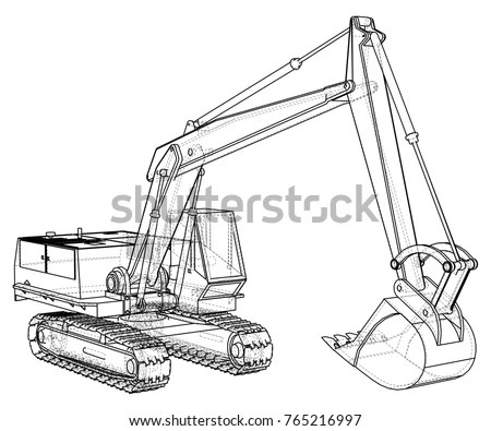 Excavator Vector Stock Images, Royalty-Free Images