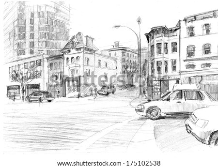 City Sketch Stock Images, Royalty-Free Images & Vectors