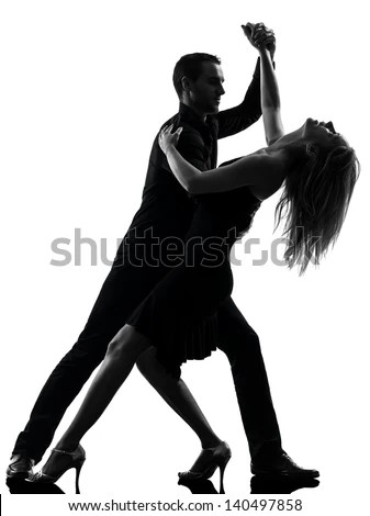 Dancing Couple Silhouette Stock Images RoyaltyFree