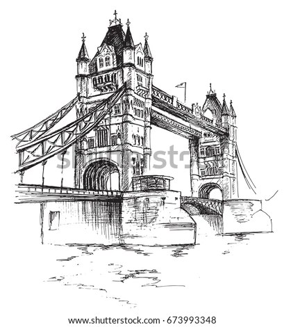 Bridge Sketch Stock Images, Royalty-Free Images & Vectors