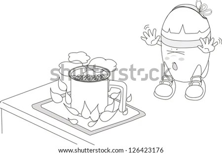 Risk Electric Shock Cartoon Image Stock Vector (Royalty