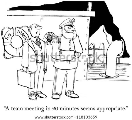 A Team Meeting 20 Minutes Seems Stock Illustration