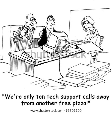 Customer Service Cartoons Stock Images, Royalty-Free