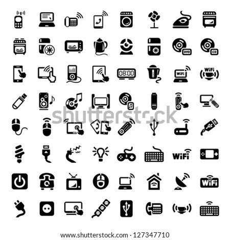Electronics Icons Stock Images, Royalty-Free Images