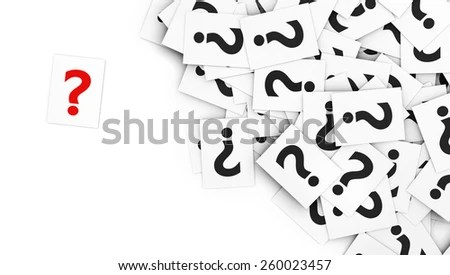 Note Of Interrogation Stock Images, Royalty-Free Images