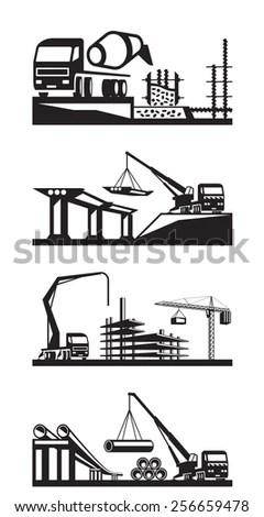 Concrete Pump Truck Logo Concrete Mixer Logo Wiring