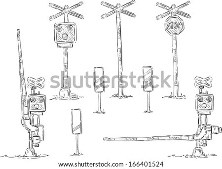 Railroad Crossing Signal Lights, Railroad, Free Engine
