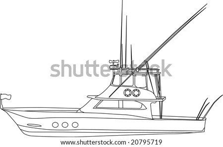 Outline Of Boat Stock Images, Royalty-Free Images