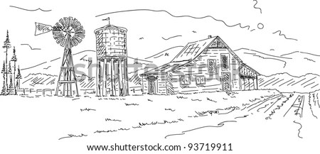 Old Farm Windmill Stock Images, Royalty-Free Images