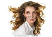 flowing hair stock royalty-free