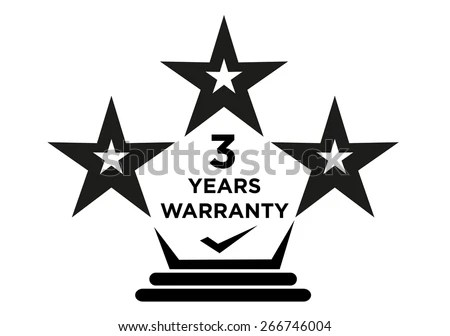 3 Years Warranty Stars Logo for Product Package Labels