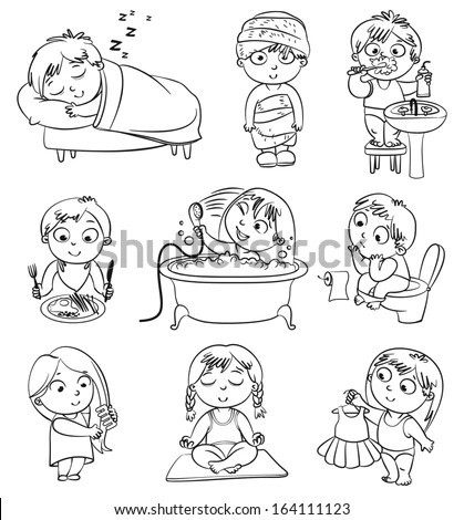 Healthy Habits Children Stock Images, Royalty-Free Images