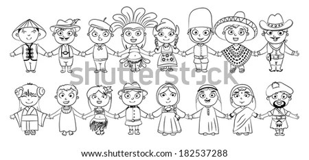 Multicultural Character On Planet Earth Cultural Stock