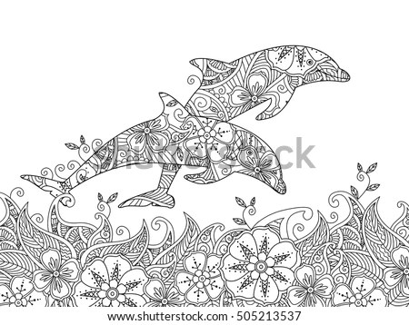 Dolphin Outline Stock Images, Royalty-Free Images