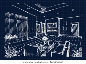 interior background vector living drawing sketch hand icon furniture shutterstock conferance construction office business sketching perspective watercolor idea paper
