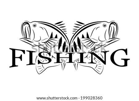 Vintage Fishing Vector Design Template Stock Vector