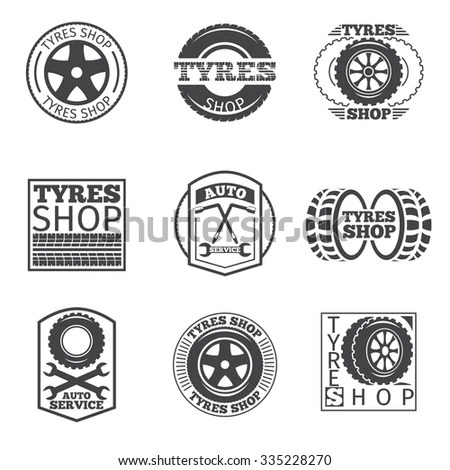Tire Shop Logos Stock Photos, Images, & Pictures