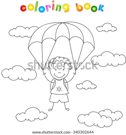 Skydiving Airplane Coloring Coloring Pages