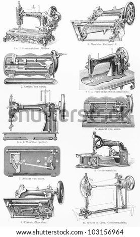 Old Sewing Machine Stock Images, Royalty-Free Images