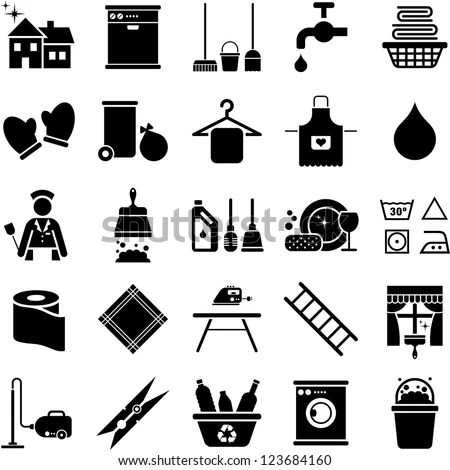 Cleaning House: House Cleaning Vector