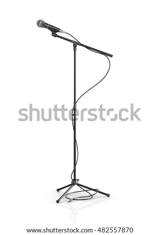 Cartoon Microphone Stand Vector Illustration Isolated