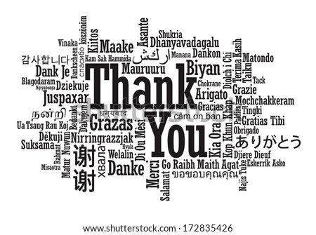 Thank You Word Cloud Vector Format Stock Vector 172835426