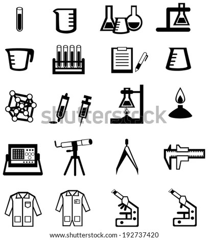 Cartoon Scientist Children Kid Studying Working Stock