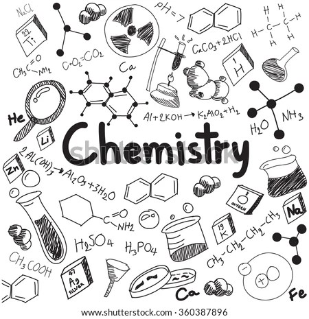 Chemistry Science Theory Bonding Formula Equation Stock