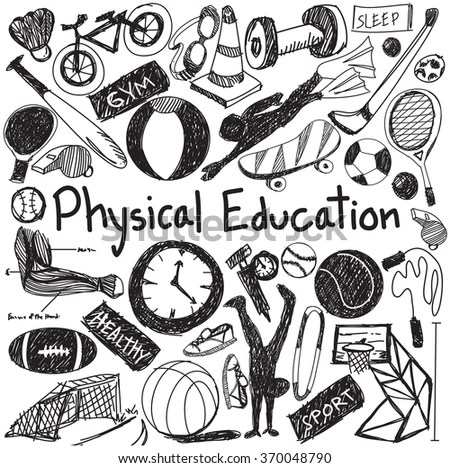 School Physical Education Stock Illustrations & Cartoons