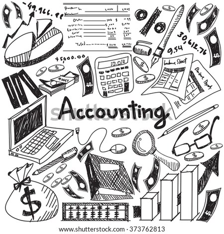Accounting Financial Education Handwriting Doodle Icon