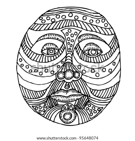 Ornate Woodblock Style Owl Stock Vector 113021110