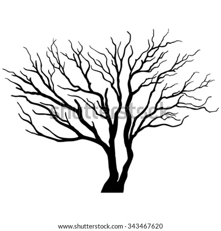 Vector Abstract Hand Draw Tree Stock Vector 468836213