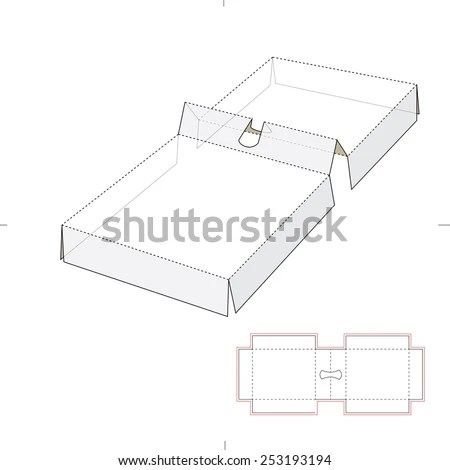 Product Shelf Box Die Cut Template Stock Vector 265386833