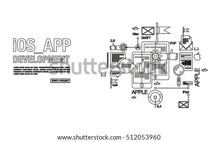 Doodle Design Style Concept Purchasing Process Stock