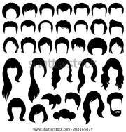hair silhouettes woman man hairstyle