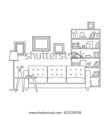 Architectural Background Vector Building Plan Stock Vector