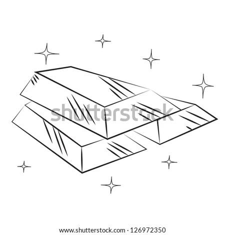 Triangular Box Die Cut Template Layout Stock Vector
