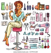 beauty salon cartoon sexy woman