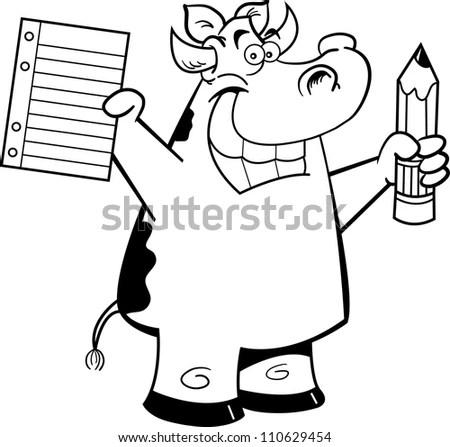 Cartoon Man Holding His Empty Coffee Stock Vector