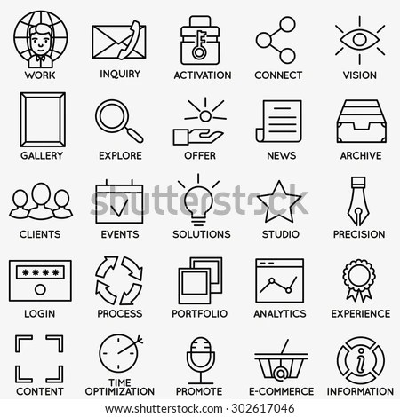Set Seo Internet Service Icons Part Stock Vector 302617046