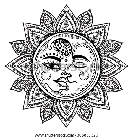 Sun And Moon Stock Images, Royalty-Free Images & Vectors