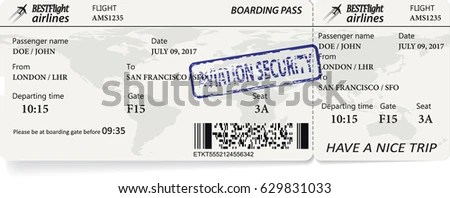 Plane Ticket Stock Images, Royalty-Free Images & Vectors